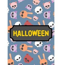 Poster artwork for book in style of Halloween vector image