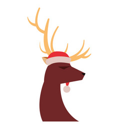 Reindeer hat on white background vector