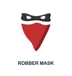 Robber mask flat icon color simple element from vector