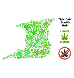 Royalty free marijuana leaves style trinidad vector