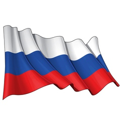 Russia National Flag vector