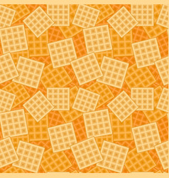 Seamless background with mall waffels texture vector