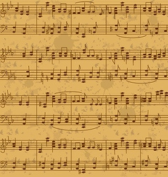 Seamless pattern of music stave notes vector