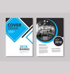 Set blue cover and layout brochure flyer vector