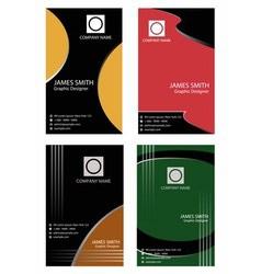 Set of vertical business card vector