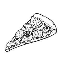 slice pizza vector image