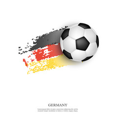 soccer ball on germany flag vector image