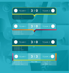 sport scoreboards templates for football vector image