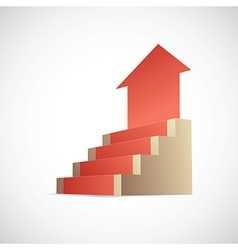 Stairway to success infographic vector