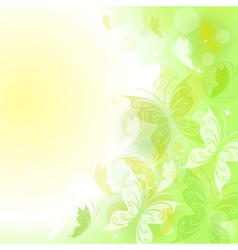 Summer background with butterflies vector