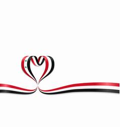 Syrian flag heart-shaped ribbon vector