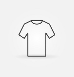 T-shirt icon outline tshirt sign vector