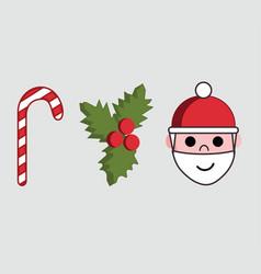 Three icons or symbols christmas season vector