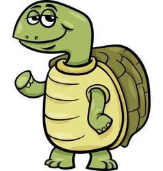 Turtle character cartoon vector