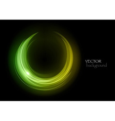 Wave neon light vector