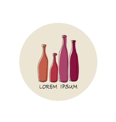 Wine bottle abstract design vector image