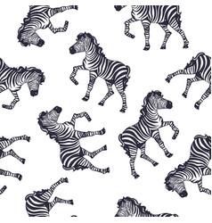 Zebra pattern kid safari print vector