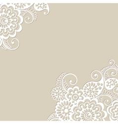 Flower ornament background vector image
