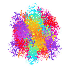 holi abstract background spray and brush strokes vector image