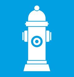 Hydrant icon white vector