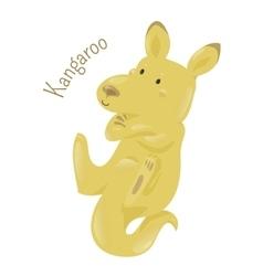 Kangaroo isolated on white background vector image vector image