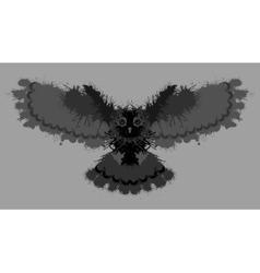 Owl painted blots Unusual grunge design vector image vector image