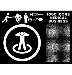 Prisoner Rounded Icon With Medical Bonus vector image vector image