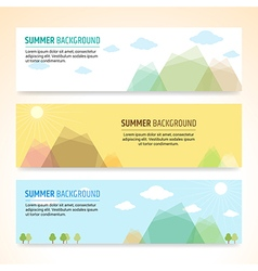 Set of summer holiday banner design vector image