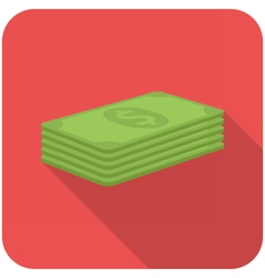 Stack of paper money vector image vector image