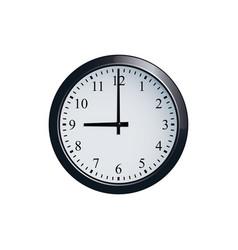 wall clock set at 9 o clock vector image vector image
