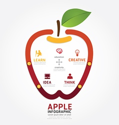 apple brain design diagram line style infographics vector image vector image