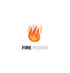 fire power logo template vector image vector image