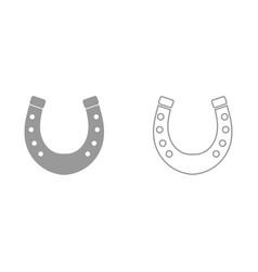 horseshoe it is black icon vector image