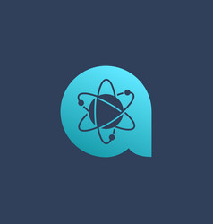 letter a atom logo icon design template elements vector image
