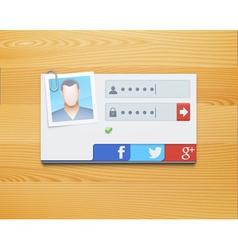 login screen concept vector image vector image