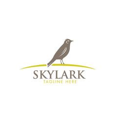 skylark wildlife bird sign vector image