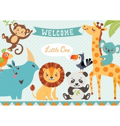 Welcome baby vector image