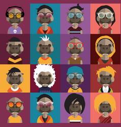 cute hippo avatars vector image vector image