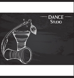 dance line chalk tribal accessories vector image vector image
