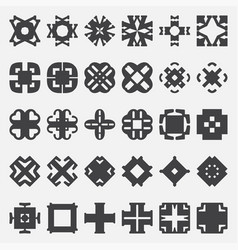 design elements set tribal cross vector image