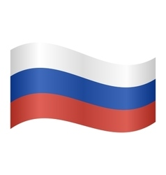 Flag of Russia waving vector image