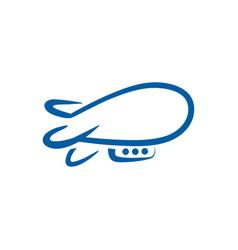 airship linear abstract logo template vector image vector image