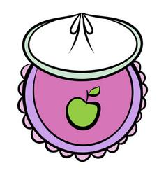 baby bib icon cartoon vector image