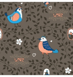 birds and twigs background vector image