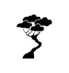 black tree silhouette branching stem organic image vector image vector image