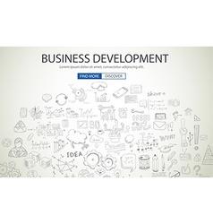 Business Development concept wih Doodle design vector image vector image