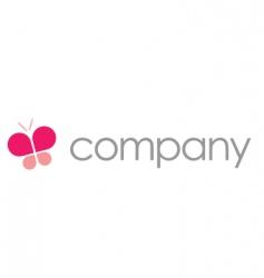 butterfly logo beauty salon vector image vector image