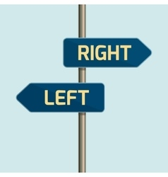 Flat design icon of directional arrow road sign vector image