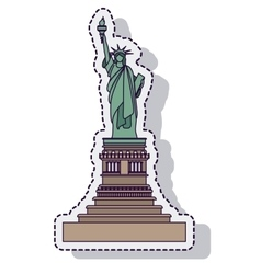 liberty statue isolated icon vector image vector image