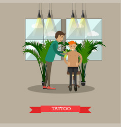 tattoo concept in flat style vector image